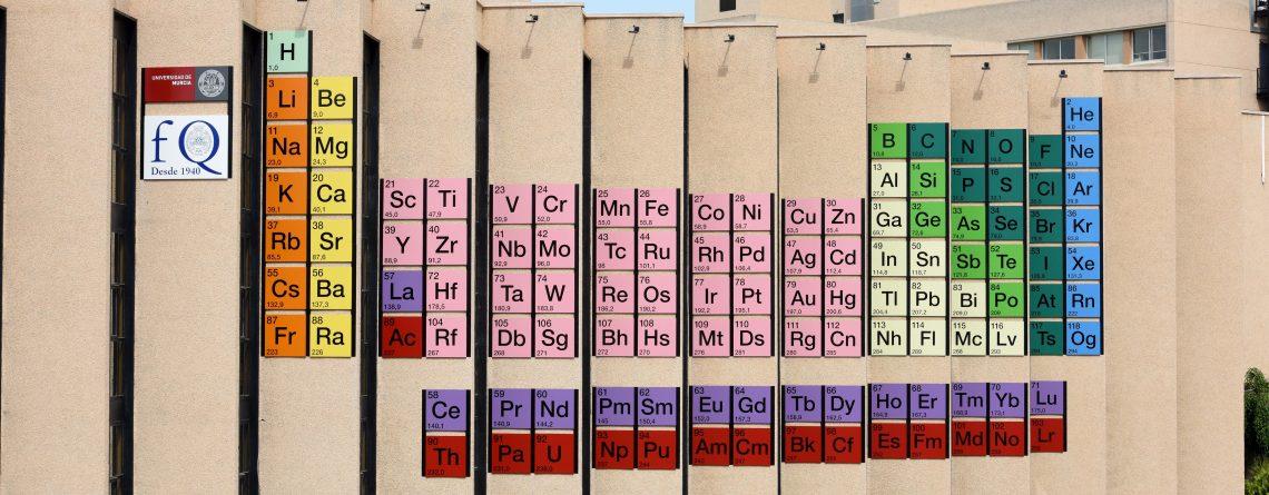 Una tabla peridica gigante en la fachada de la facultad de qumica una tabla peridica gigante en la fachada de la facultad de qumica de la universidad de murcia urtaz Images