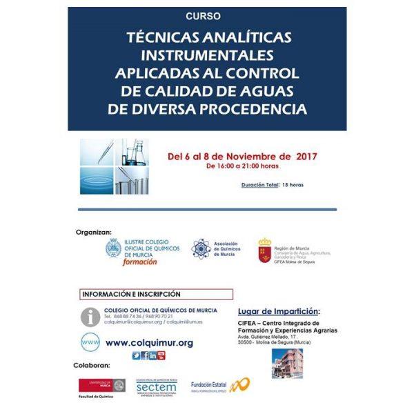 cartel analisis instrumental aguas