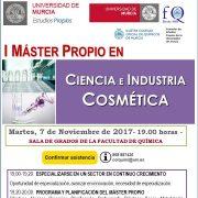 Cartel JORNADA PRESENTACIÓN MÁSTER PROPIO COSMÉTICA