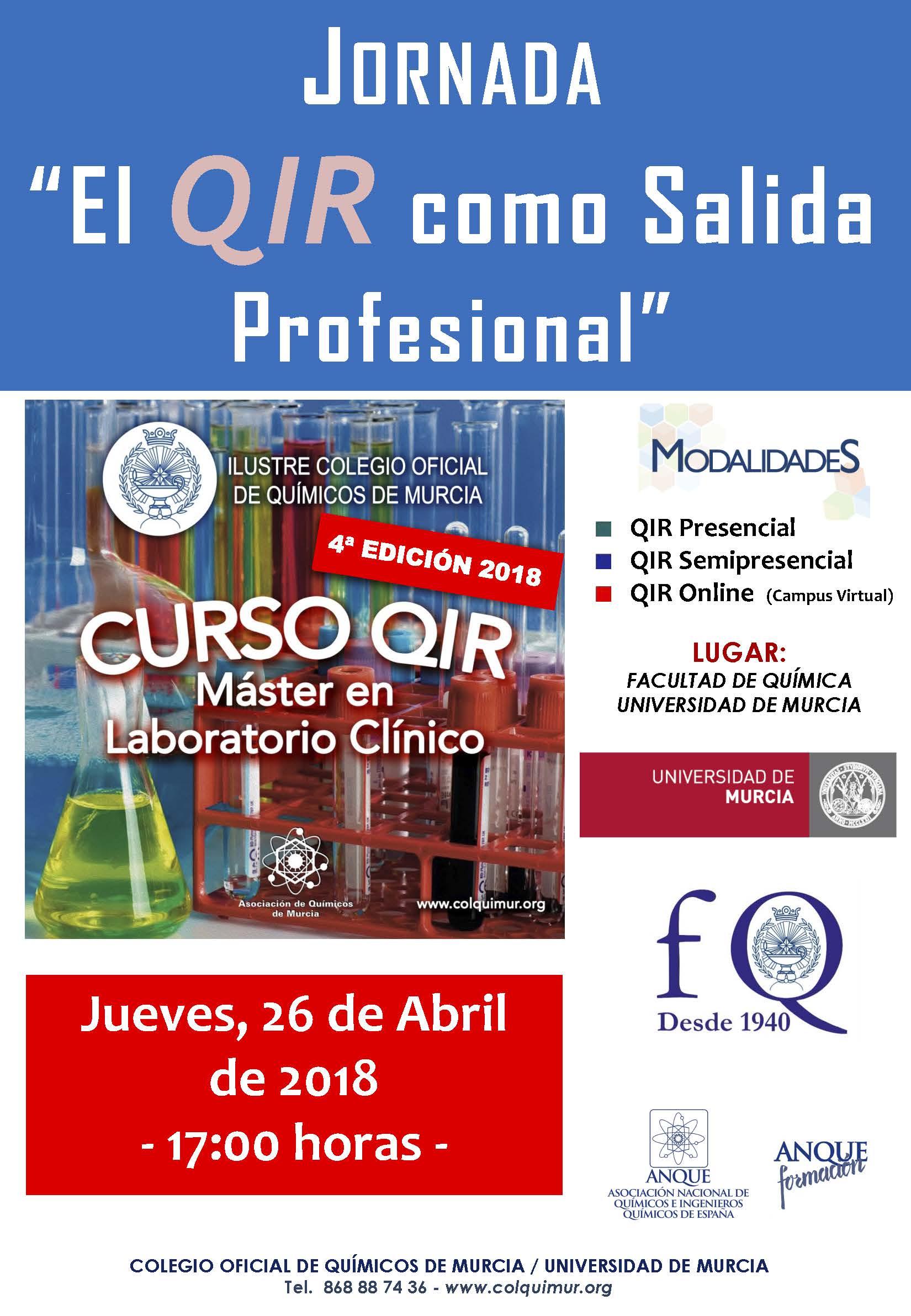 CARTEL JORNADA INFORMATIVA QIR 2018_Murcia