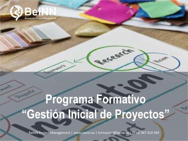 """BeiNNPrograma Formativo """"Gestión Inicial de Proyectos"""""""