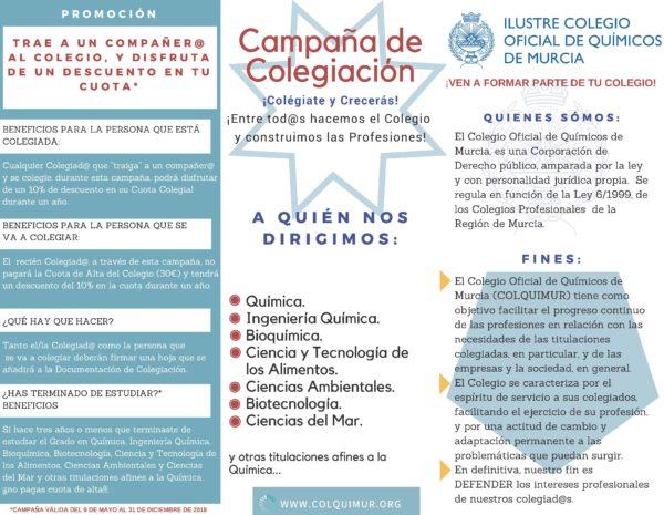 """CAMPAÑA DE COLEGIACIÓN Y PROMOCIÓN """"TRAE A UN COMPAÑERO"""""""