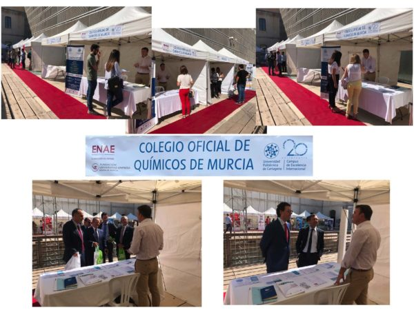 El Colegio estuvo presente en el foro de empleo de la ENAE en la UPCT