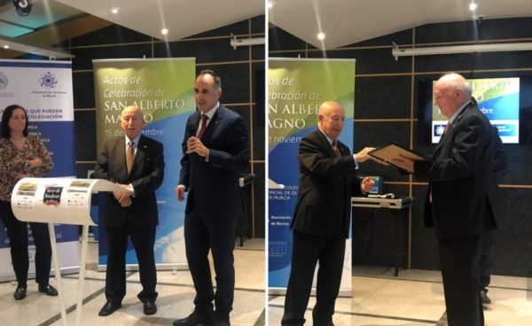 El Colegio de Químicos distingue al Rector y al profesor Artés Calero
