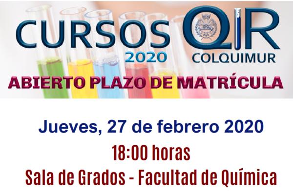 """JORNADA INFORMATIVA """"CURSO PREPARATORIO DE ACCESO AL QIR 2020"""" - 6º edición"""