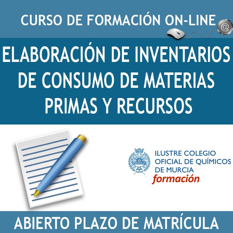 Caja Elaboración de Inventarios de Consumo de materias primas