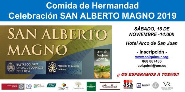 COMIDA DE HERMANDAD. CELEBRACIÓN SAN ALBERTO MAGNO 2019 - Sábado, 16 de Noviembre 2019 - Hotel Arco de San Juan
