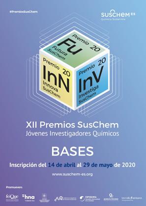 XII Premios SusChem. Jovenes Investigadores Químicos